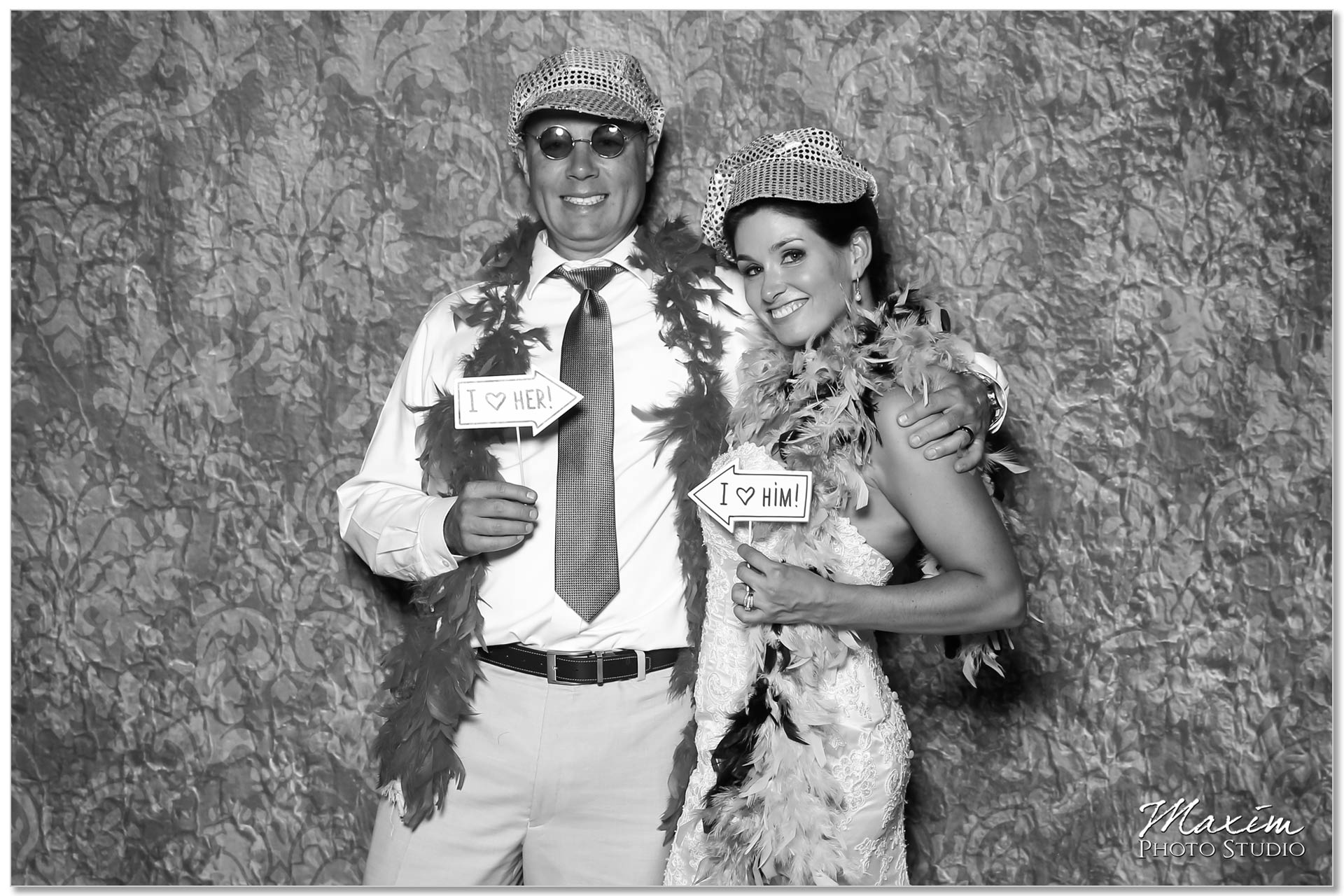 Clear Lake Kusota Island wedding Reception photo booth