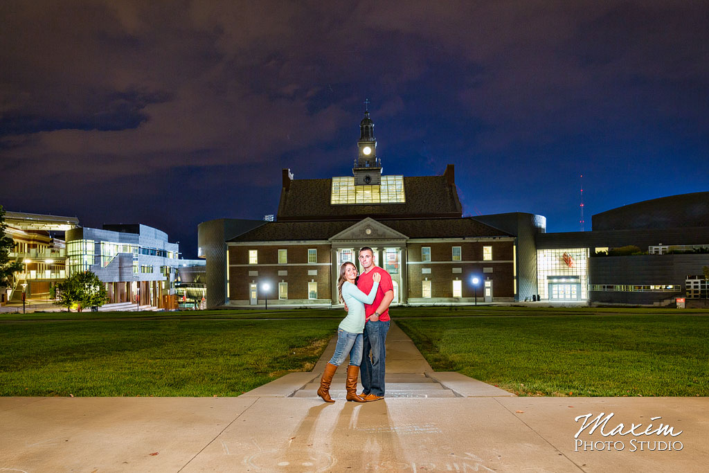 Cincinnati Engagement Photographers with Off Camera Flash