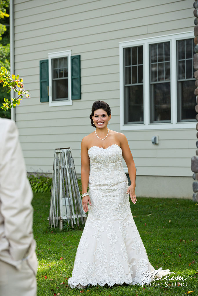 Kasota Island Clear Lake Wedding first look