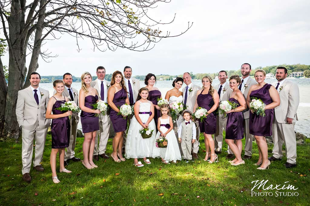 Kasota Island Clear Lake Indiana Wedding Bridal Party