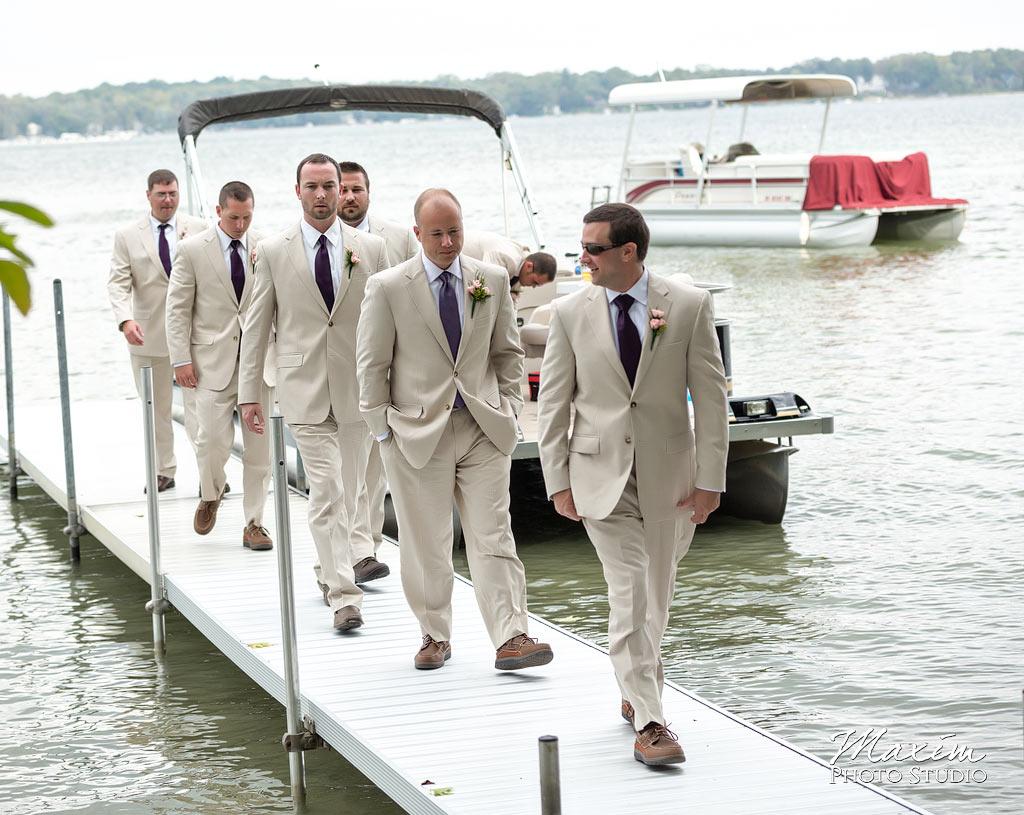 Kasota Island Clear Lake Wedding ceremony