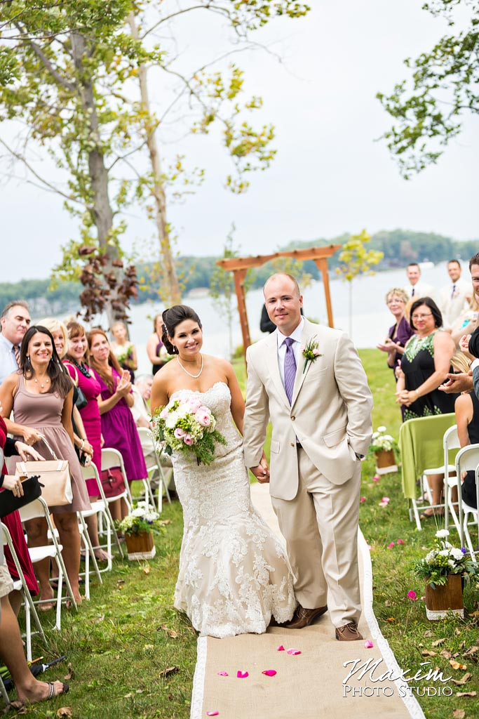 Kasota Island Clear Lake Indiana Wedding Ceremony