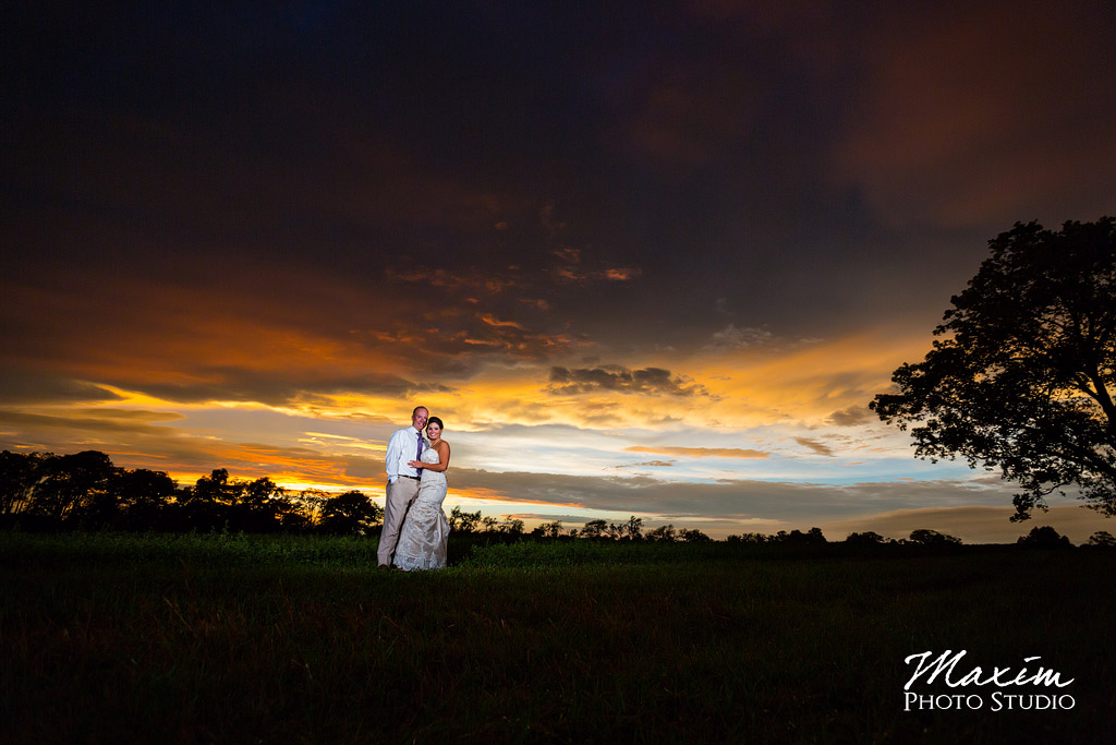 Wedding sunset Cincinnati Wedding Photographers