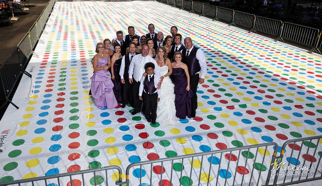Fountain Square Cincinnati Wedding bride