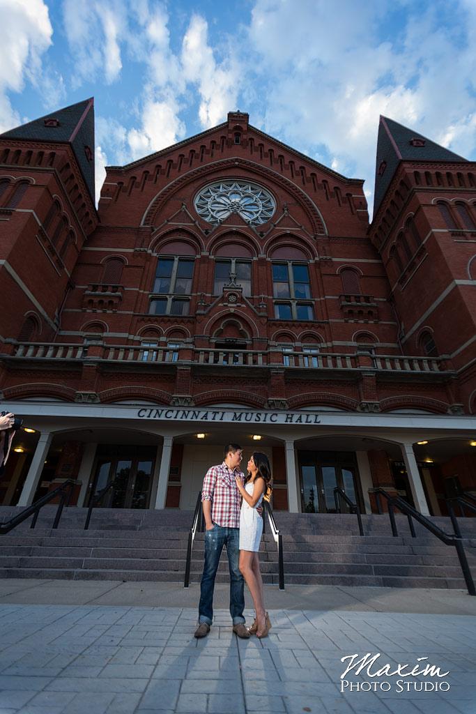 Music Hall Cincinnati Engagement Pictures