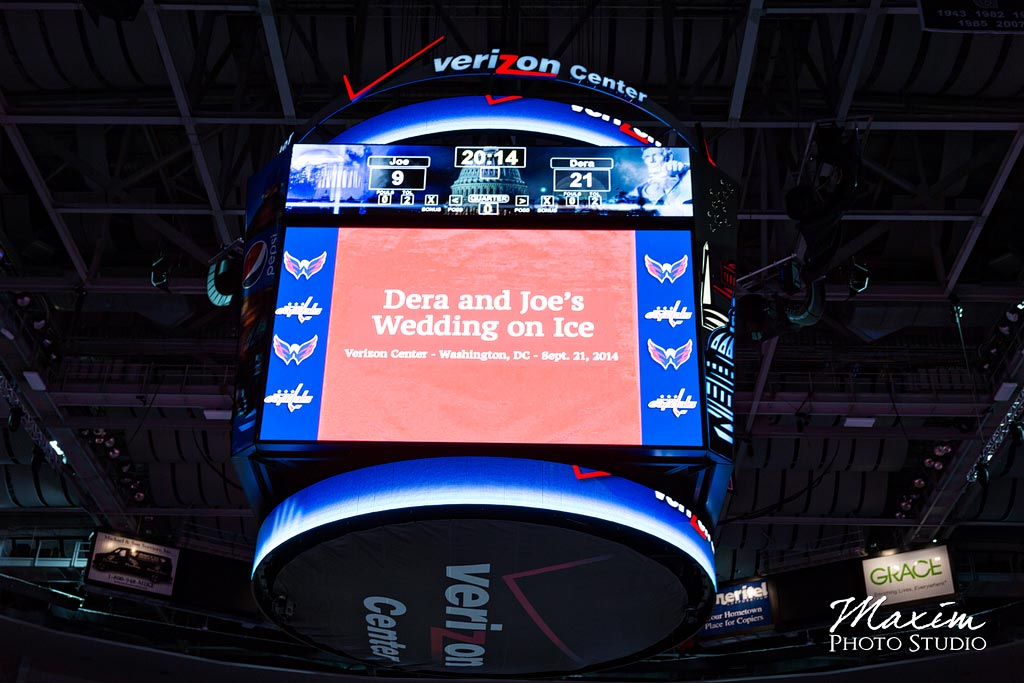 Wedding on ice at Verizon Center