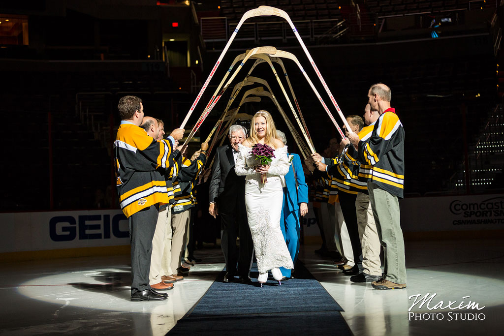 Verizon Center Ice Wedding Bride entrance