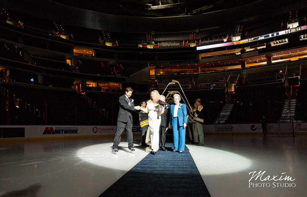 Verizon Center Ice Wedding