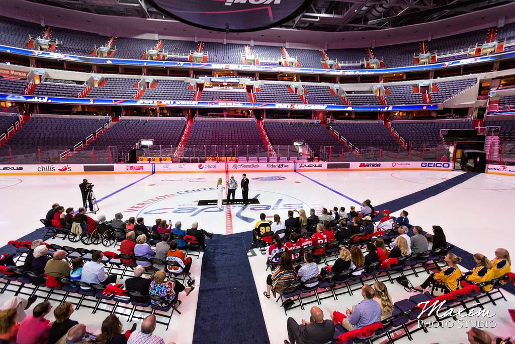 Verizon Center Ice Wedding birds eye view