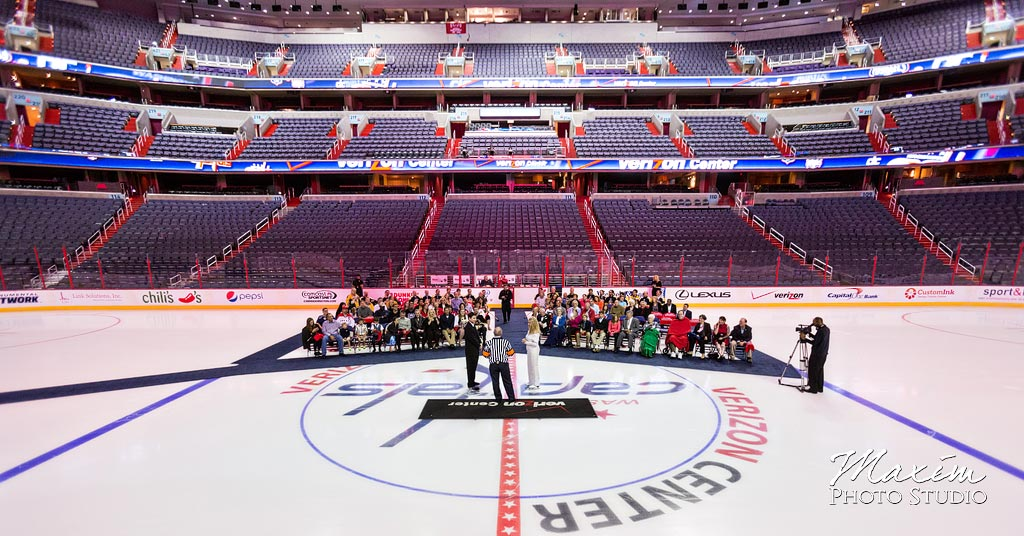 Verizon Center wedding on ice