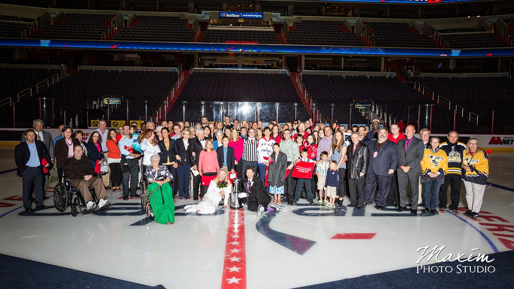 Verizon Center ice Wedding with Stanley Cup