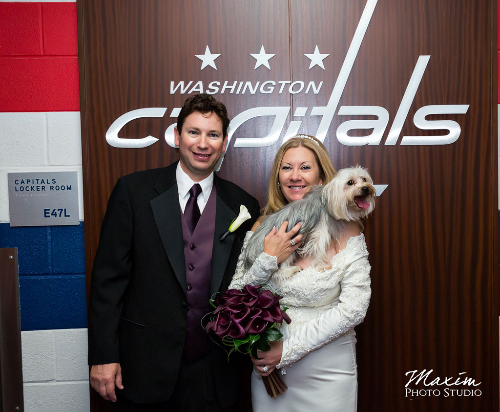 Verizon Center ice wedding
