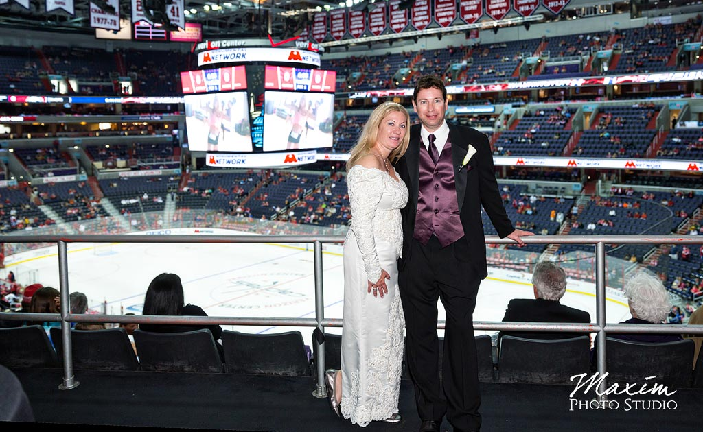 Verizon Center Captain Morgan Suite Wedding