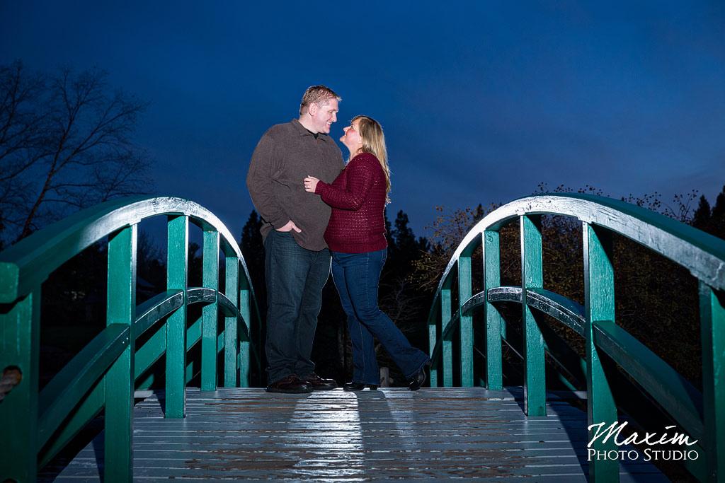 Cox Arboretum bridge engagement photos