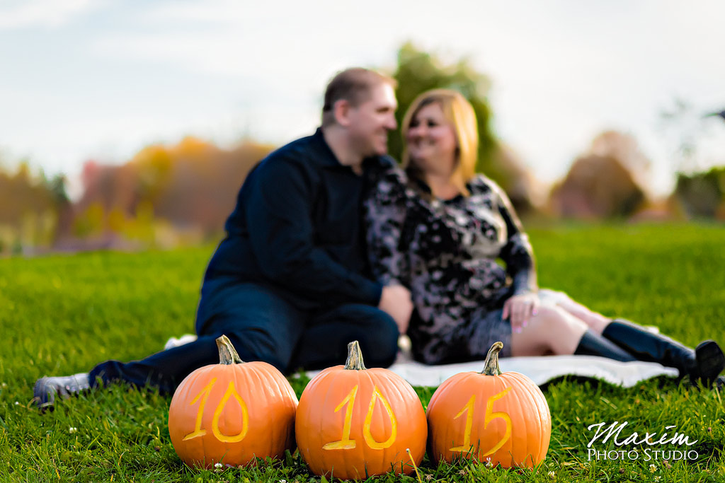 Pumpkin Cox Arboretum Fall Engagement