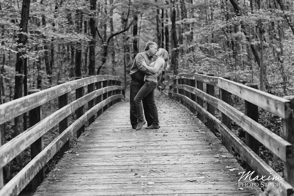 Sharon Woods Park Bridge Engagement