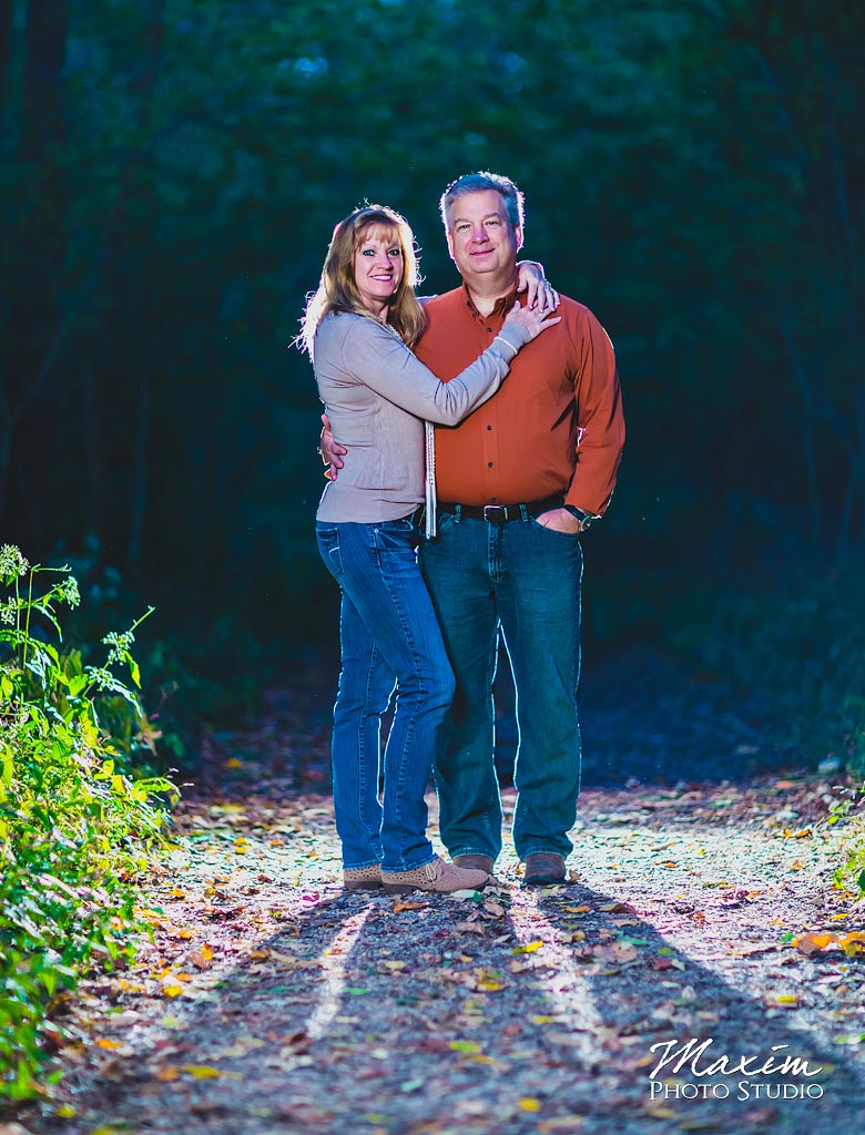 Sharon Woods Engagement Off Camera Flash