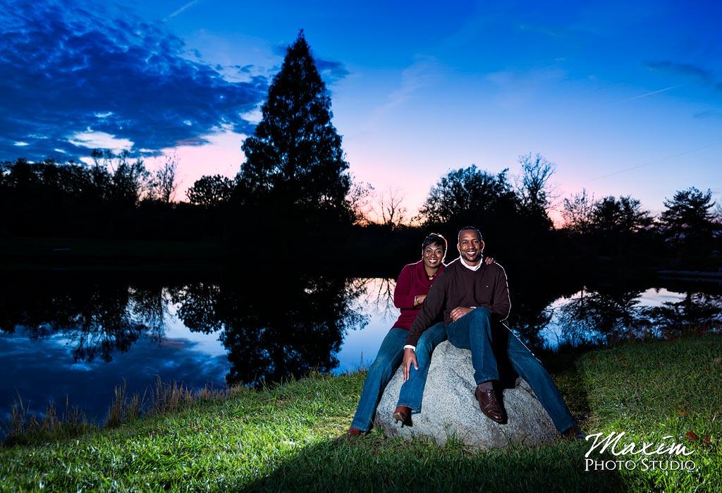 Cox Arboretum sunset Engagement
