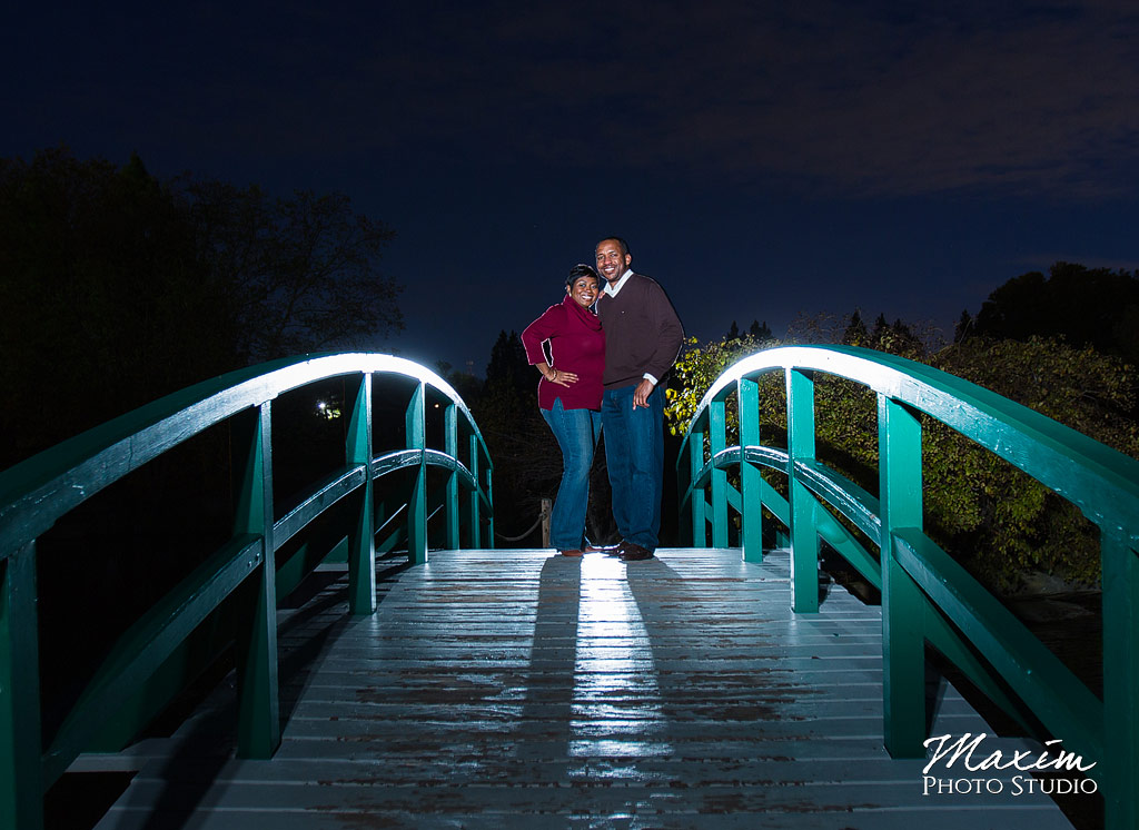 Cox Arboretum bridge engagement