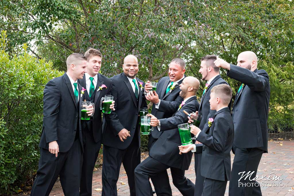 Glenwood Gardens Cincinnati Wedding Groomsmen