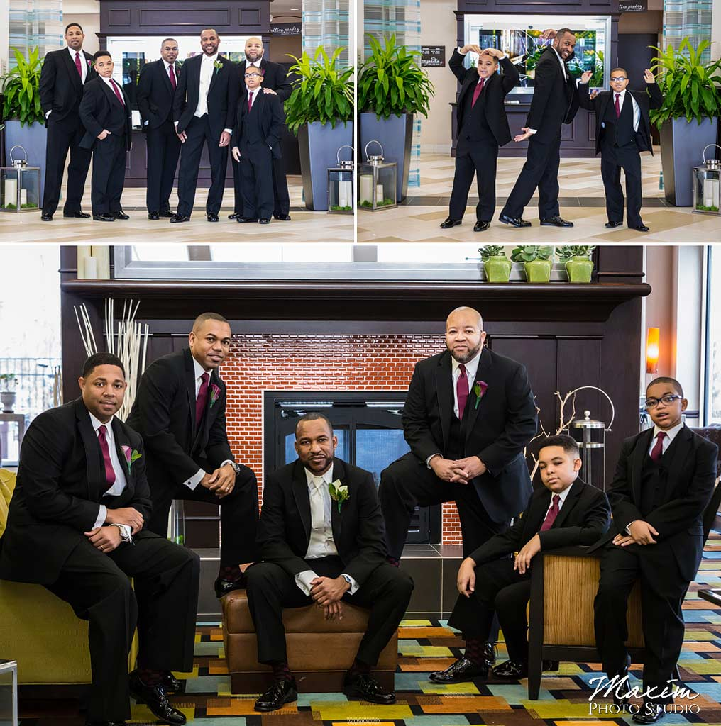 Groomsmen Hilton Garden Inn Mason Wedding