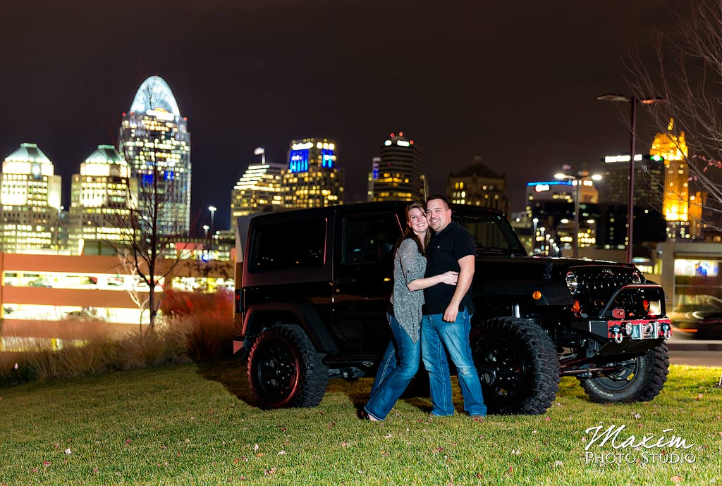 Horseshoe Casino Cincinnati Engagement Couple LT