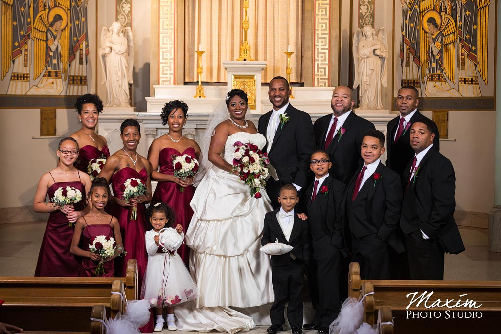 Bridal party St. Aloysius Chapel Cincinnati Wedding
