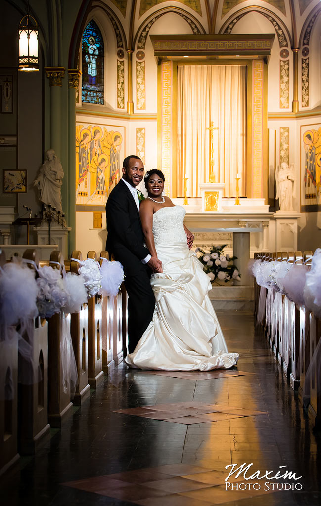 Bridal Groom St. Aloysius Chapel Cincinnati Wedding