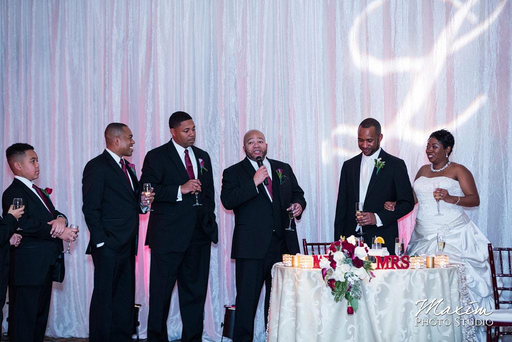 Manor House Wedding Reception toasts