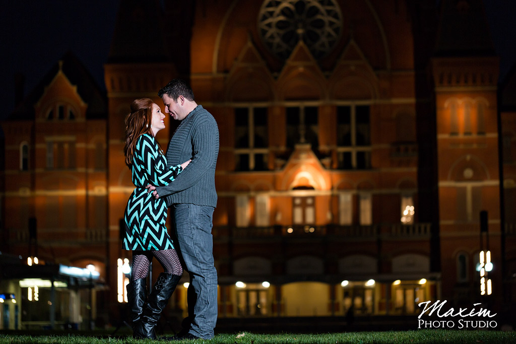 Music hall night time engagement