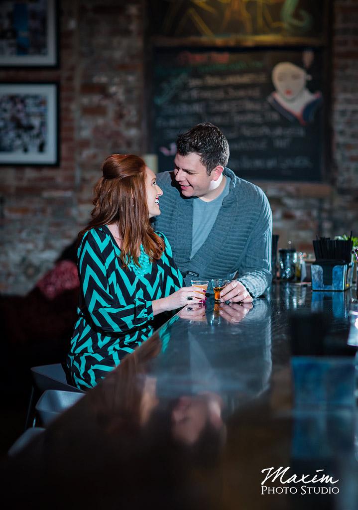 Over-the-Rhine Cincinnati restaurant engagement