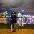 Cincinnati Skyline sparkler Engagement