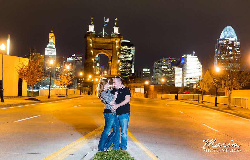Covington Kentucky Off Camera Engagement