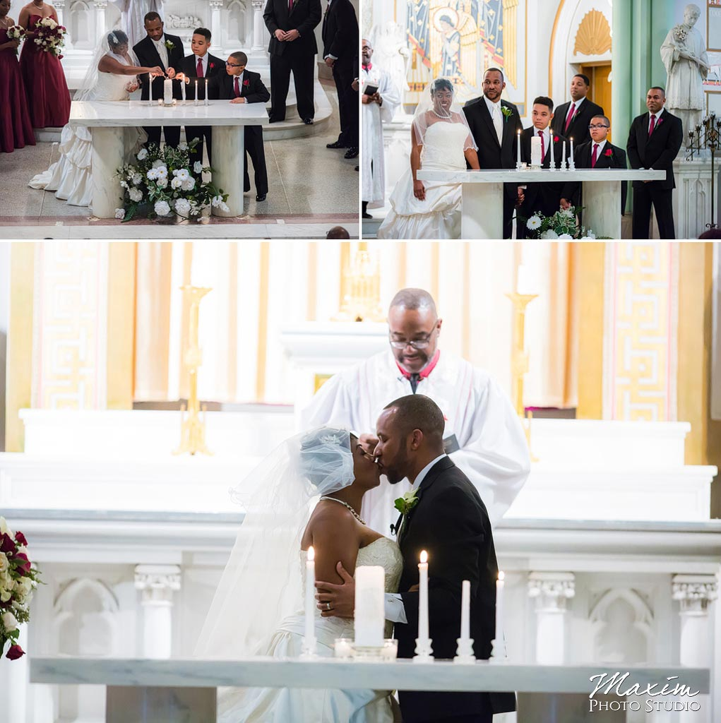 St. Aloysius Chapel Cincinnati Wedding ceremony