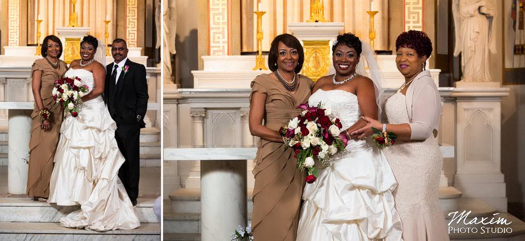 St. Aloysius Chapel wedding portraits