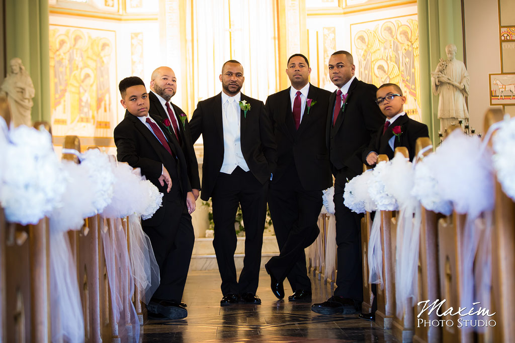 St. Aloysius Chapel wedding Groom portraits