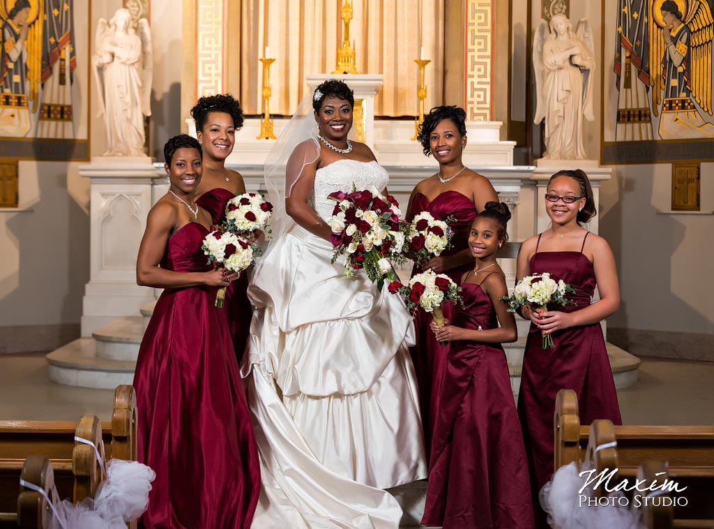 Bridesmaids St. Aloysius Chapel Wedding