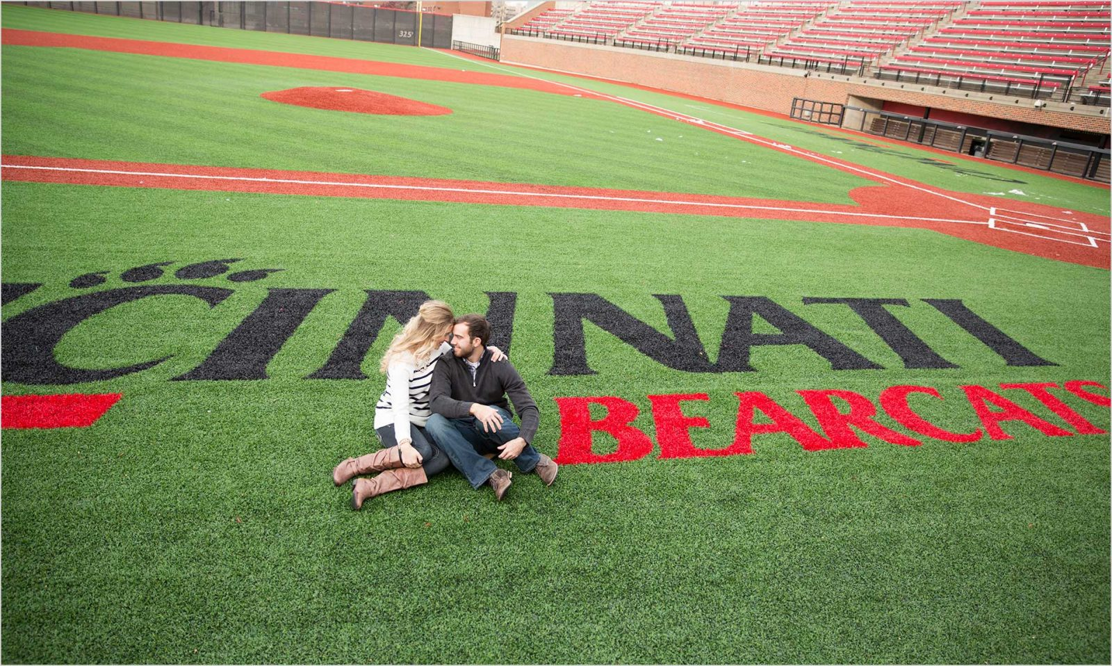 University of Cincinnati Baseball wedding engagement