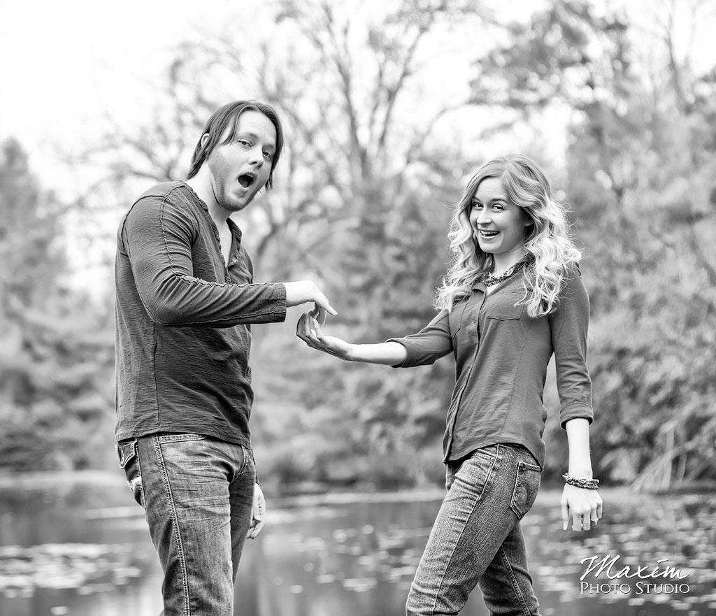 Mt Airy Forest Cincinnati Lake Engagement