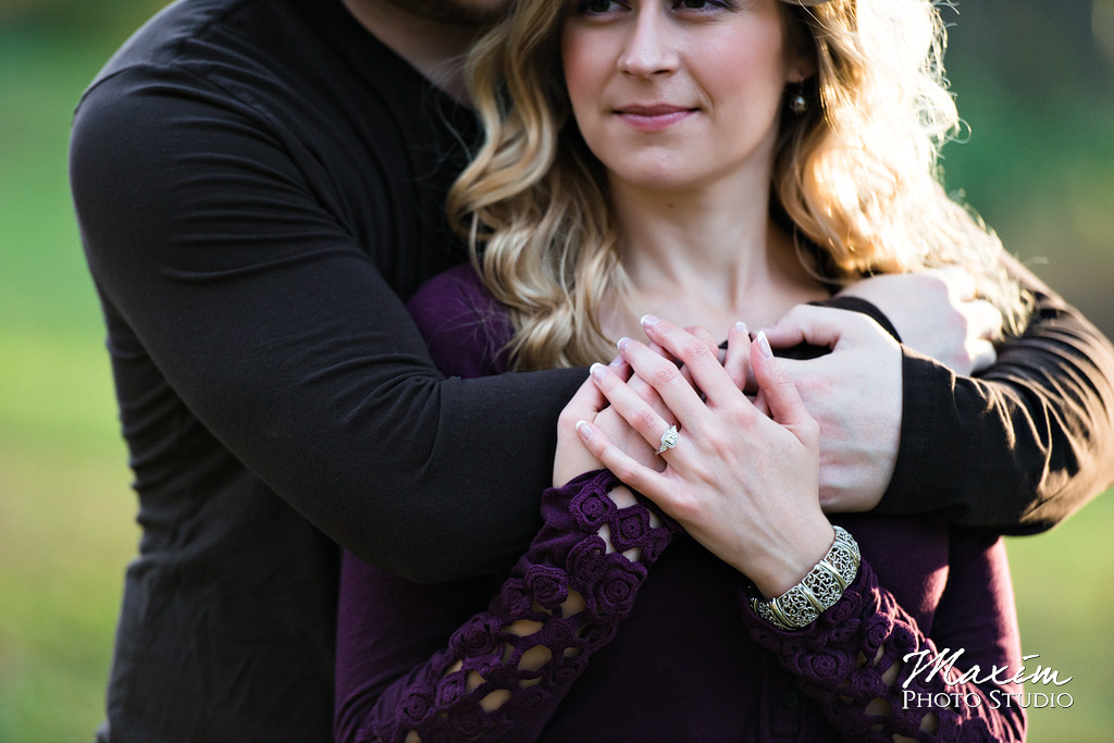Mt Airy Forest Cincinnati Engagement Couple