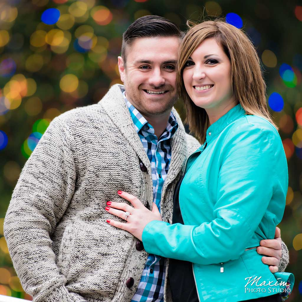 Fountain Square Christmas Tree engagement