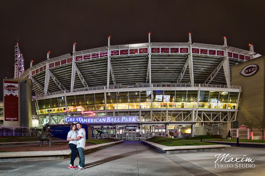 Cincinnati Reds Stadium night engagement