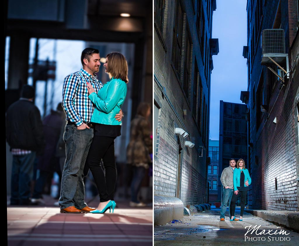 Downtown Cincinnati Night engagement
