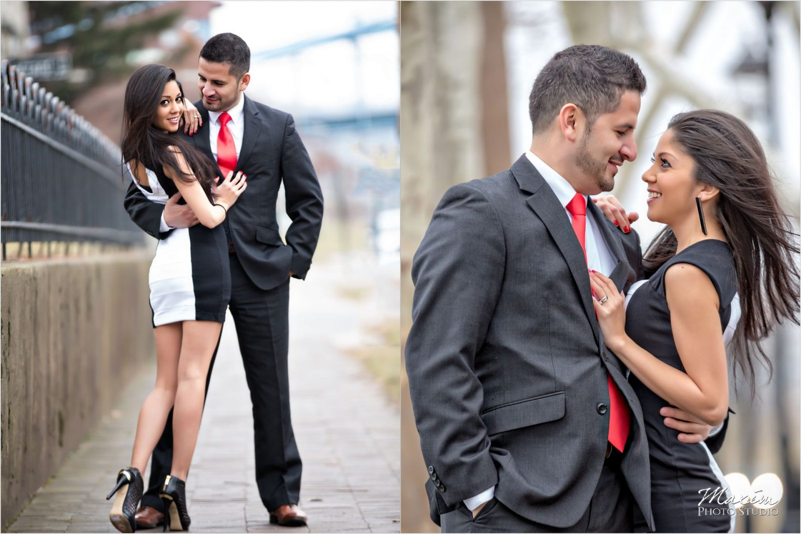Riverside Historic District Winter Engagement