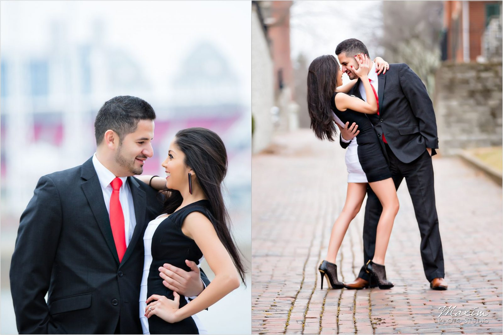 Cincinnati Skyline Winter Engagement