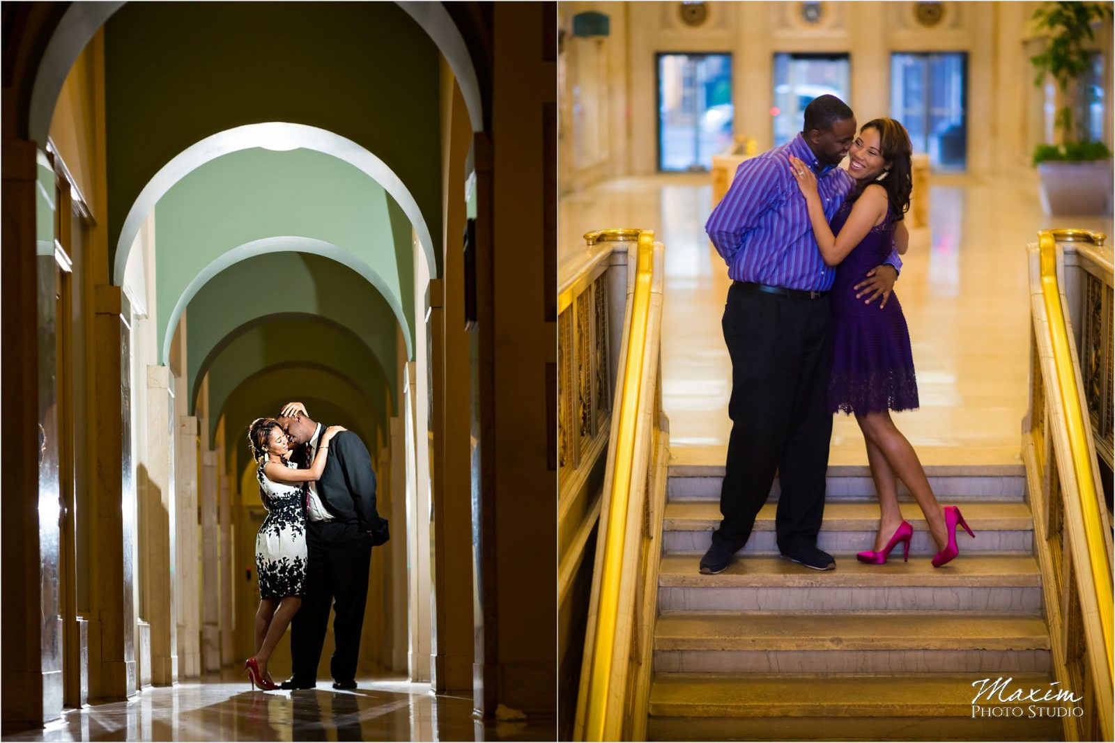 Dixie Terminal Cincinnati Stairs Engagement