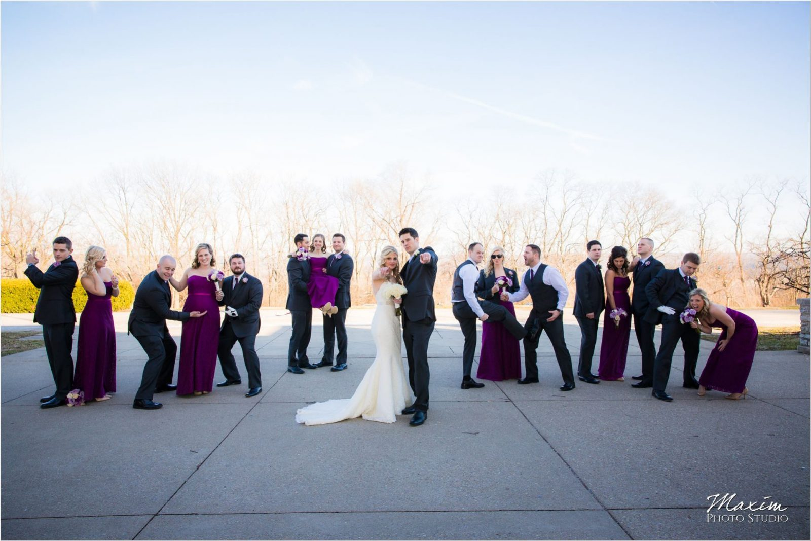 Ault Park Cincinnati Wedding Bridal Party