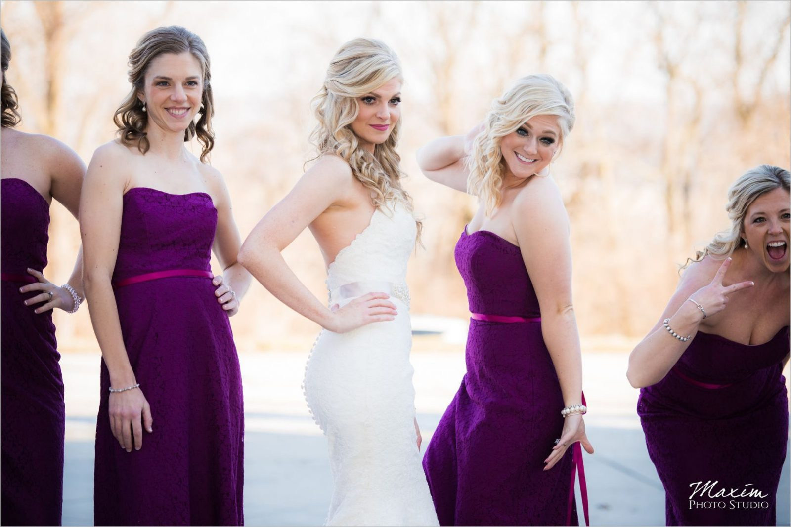 Ault Park Cincinnati Wedding Bridesmaids