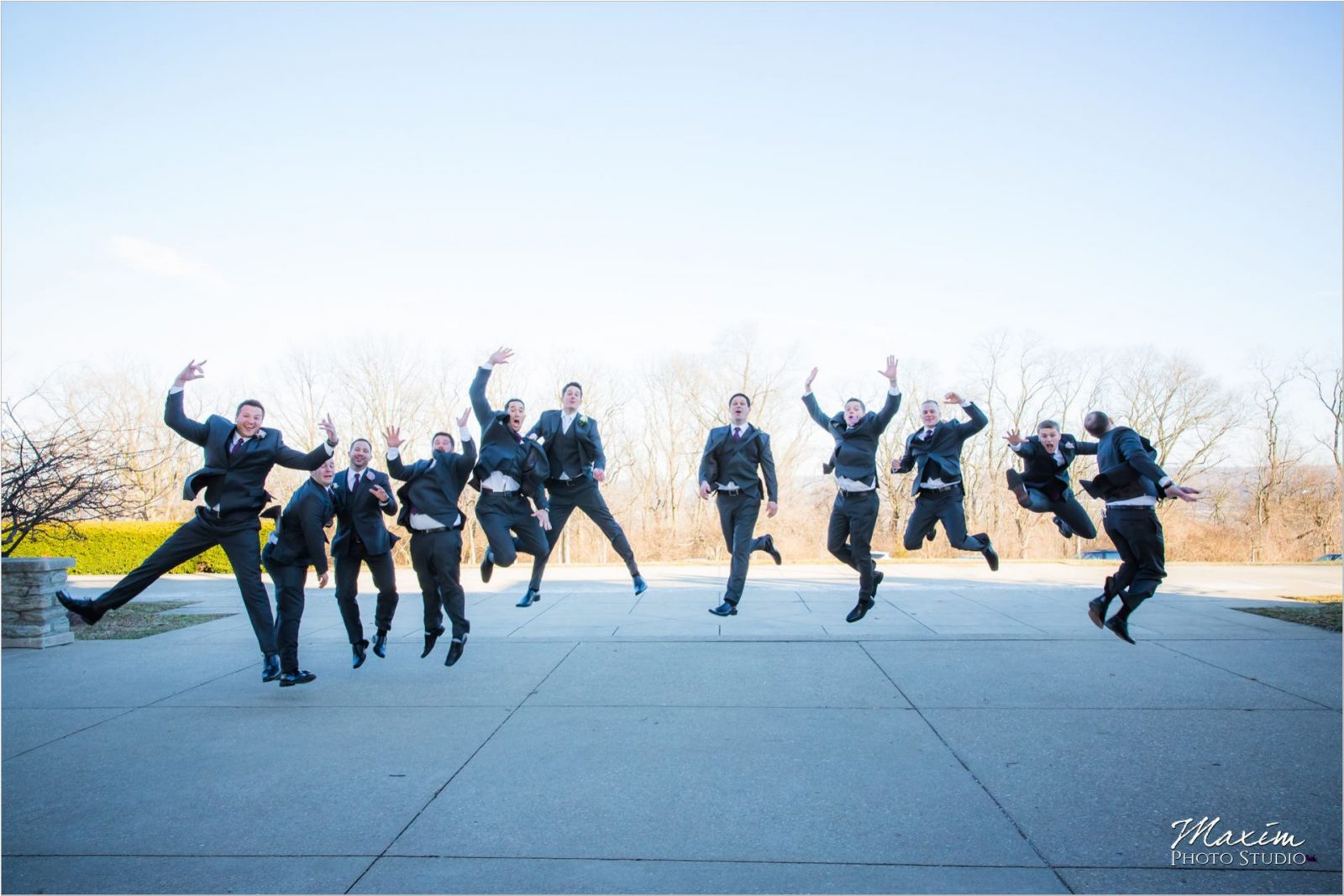 Ault Park Cincinnati Wedding Groomsmen