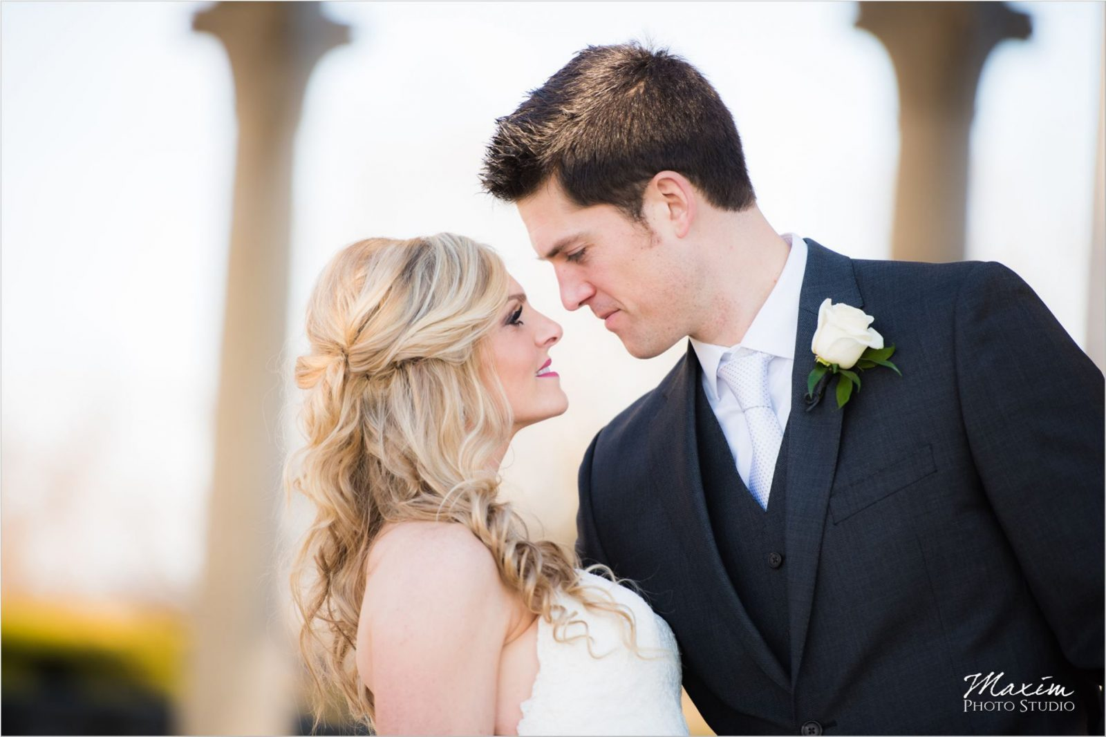 Ault Park Winter Wedding Bride Groom